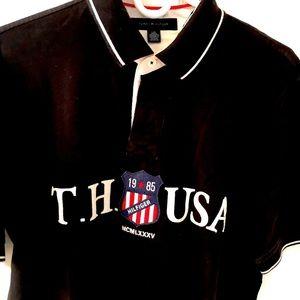 Tommy Hilfiger USA black polo L